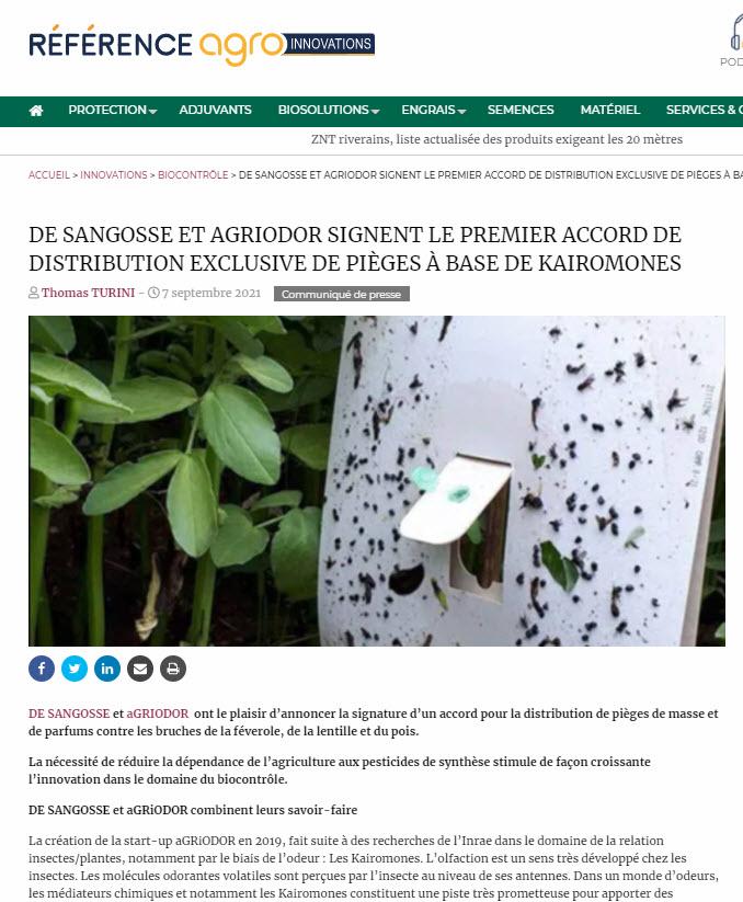 De Sangosse dans le presse
